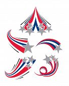 image of shooting stars  - Various Shooting sparkling and multicolored silver Stars - JPG