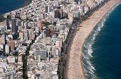 stock photo of ipanema  - Aerial View of Buildings in Front of the Ipanema Beach - JPG