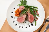 picture of lamb chops  - Herb crusted lamb chops  - JPG