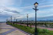 picture of sochi  - evening promenade with lanterns in Sochi Russia - JPG