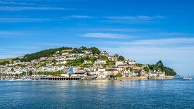 picture of dartmouth  - The Town of Kingswear on the Dart Estuary in Devon Viewed from Dartmouth - JPG