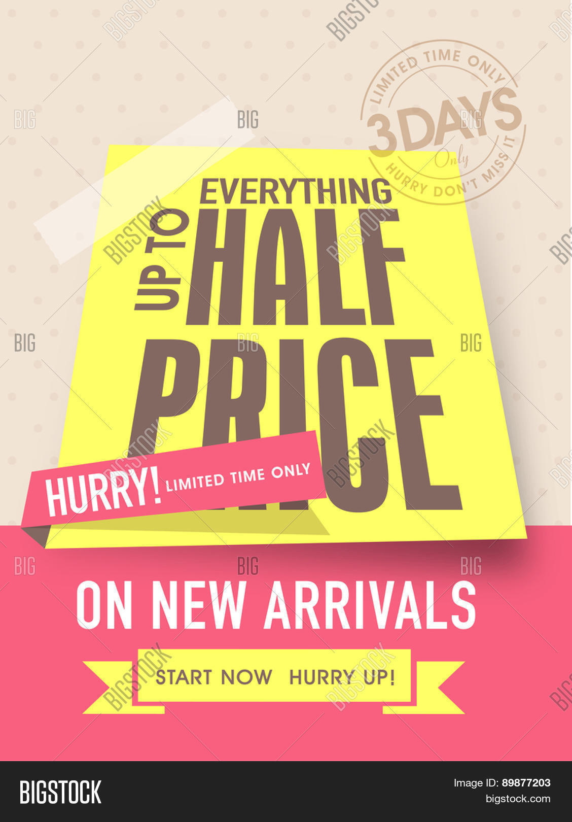 limited time flyer banner or template half price limited time flyer banner or template half price discount on new arrivals