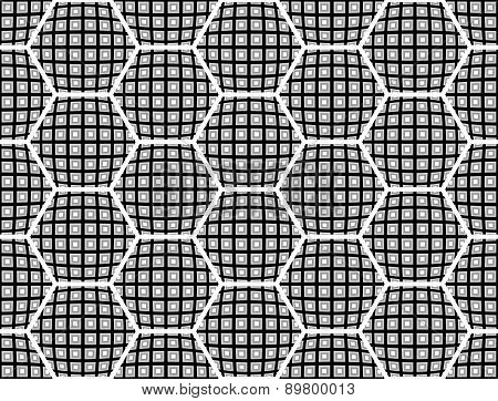 Design Seamless Monochrome Checked Hexagon Pattern