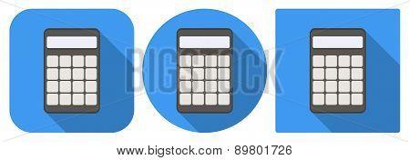 Icon of calculator in flat design