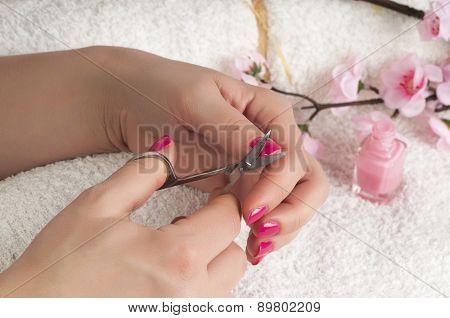Close Up View Of Nail Treatment