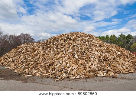 Pile of split fire wood