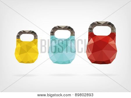 Low Poly Kettlebell