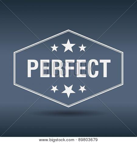Perfect Hexagonal White Vintage Retro Style Label