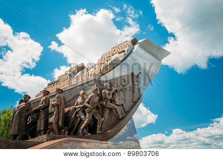 Monument dedicated to the participants Belorussian Strategic Off