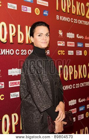 MOSCOW, RUSSIA, October, 15: Russian singer Slava attends the premiere of the movie
