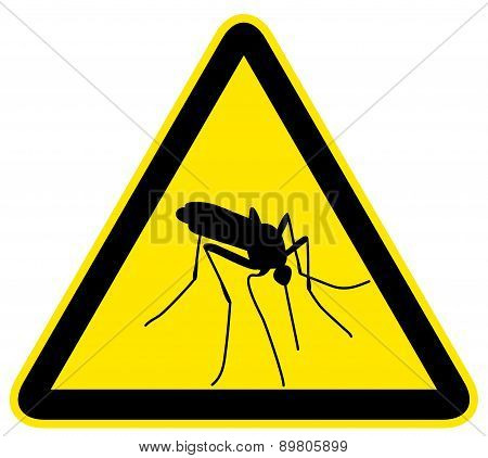sign with black silhouette of mosquito