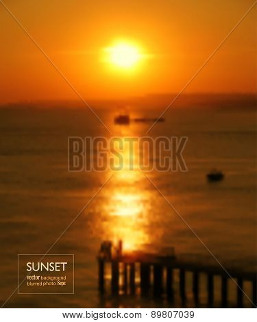 Sunset Blurred Photo Background
