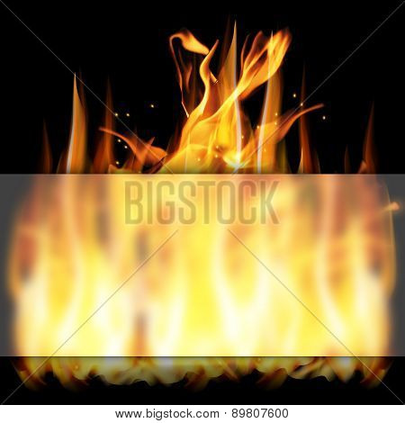 Fire And Glass Frame - Blank Frame