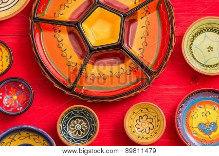 Typical Empty Tapas Dishes