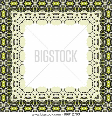 Ornamental Frame For Photo With Abstract Elements
