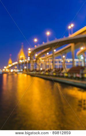 Blur bokeh of Industrial Ring Road