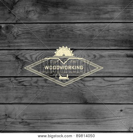 Woodworking Badges Logos And Labels For Any Use