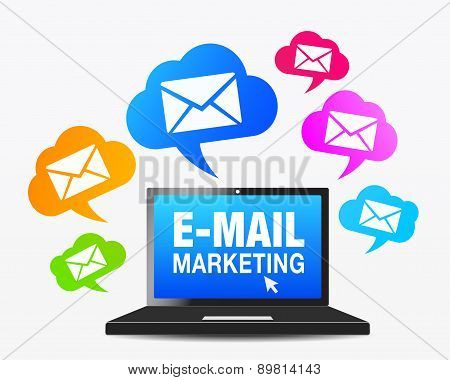 Web Email Marketing Icons