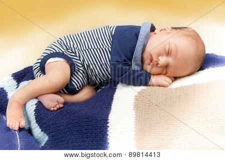 Newborn infant baby sleeping