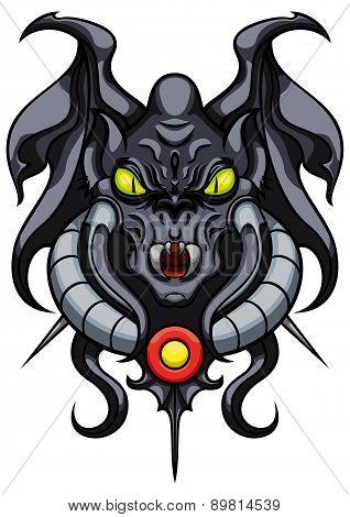 Fantasy Demonic Gargoyle Emblem