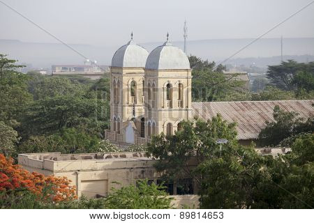 Spires of Ethiopian Orthodox church in Dire Dawa, Ethiopia