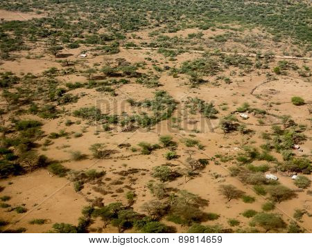 dry grazing land in the sahel of Ethiopia