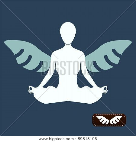 I Want To Believe. Man Meditate Yoga, Angel Wings