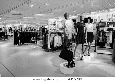 PARIS - SEPTEMBER 08: modern boutique interior on September 08, 2014 in Paris, France. Paris, aka City of Love, is a popular travel destination and a major city in Europe