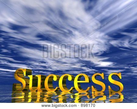 Success blue cloud