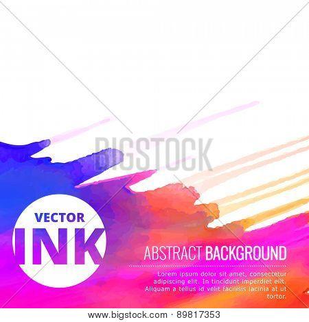 beautiful vector colorful ink splash design background