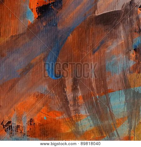 Abstract Pained Canvas Design