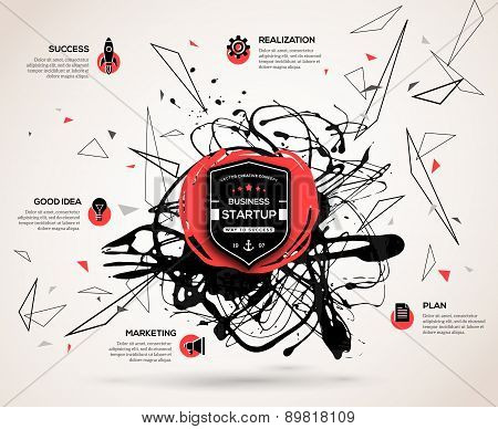 Creative infographics concept for startup.