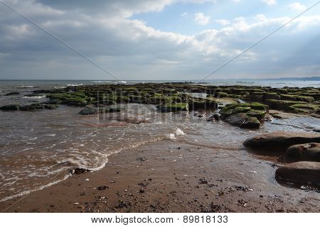 Tide covering Rock Pools