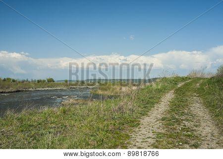 Mures river landscape