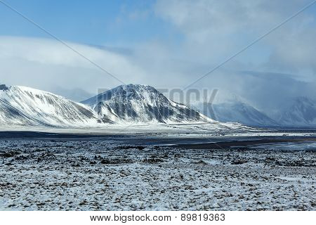 Impressive Winter Mountain Landscape