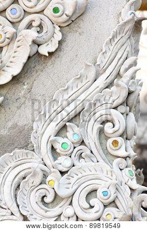 Stucco White Sculpture Decorative Pattern