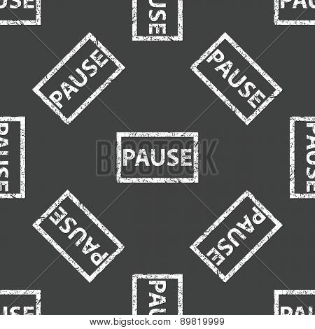 Rubber stamp PAUSE pattern