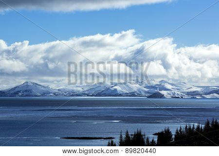 Volcano Winter Mountain Landscape