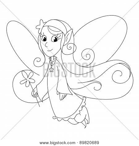 Fairylady coloring vector