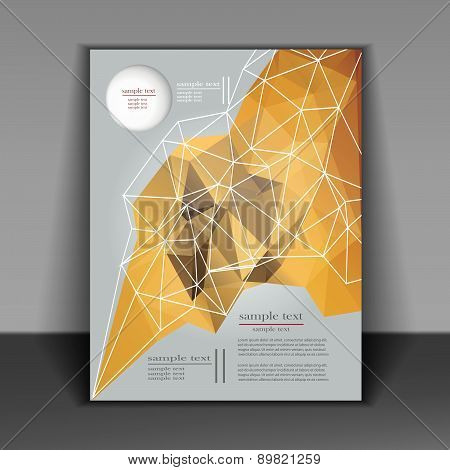 Abstract Brochure Design With Geometric Patterns