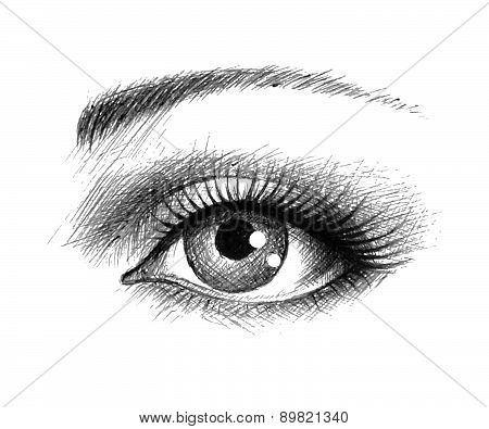Eye Hand-drawn