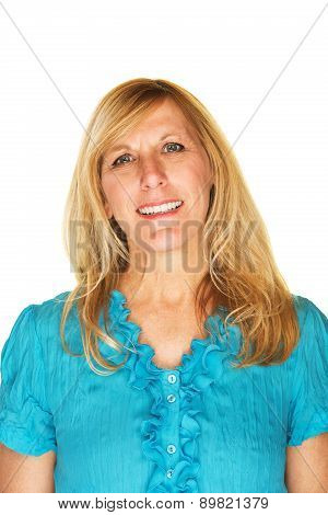 Easygoing Female Smiling