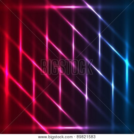 Tricolor diagonals abstract glowing background