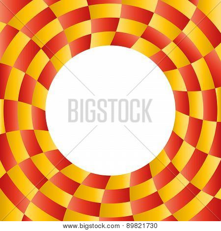 Color abstract radial background with placeholder