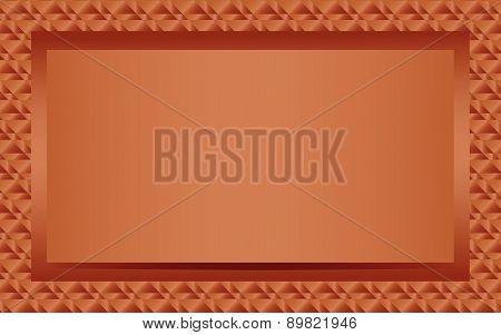 Bronze text or photo frame landscape