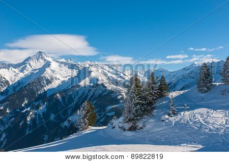 Winter landscape, Mayrhofen.