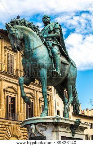 Statue Of Cosimo I De Medici In Florence