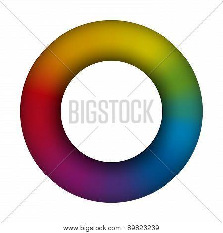 Torus Ring Rainbow Colors