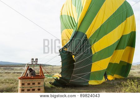 Hot Air Balloon Deflating