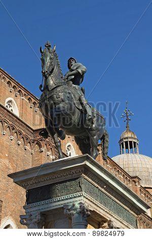 Statue Of Bartolomeo Colleoni  In Venice (italy)